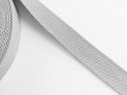 BW/Polyester Gurtband 3,2 cm breit, steingrau