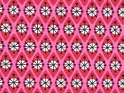 Jersey geometrisches Muster Hamburger Liebe, pink