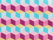 Jersey Rauten Hamburger Liebe, pink
