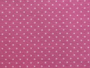 Jersey Punkte 2mm - rosa auf himbeer