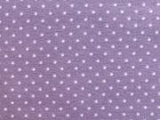 RESTSTÜCK 45 cm Jersey Punkte 2mm - flieder auf lila