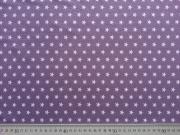 Jersey Sterne 1 cm - flieder auf lila