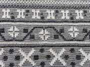 Jacquard Strick Mexico Zeichen - schwarz/ecrue