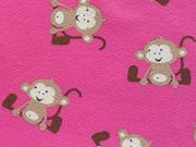 RESTSTÜCK 45 cm Jersey Äffchen, pink beige