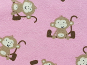 RESTSTÜCK 33 cm Jersey Äffchen, rosa-beige