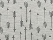 Jersey Arrows Pfeile - hellgrau melange/dunkelgrau