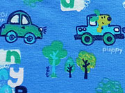 RESTSTÜCK 47 cm Jersey Brumm Brumm Autos - blau