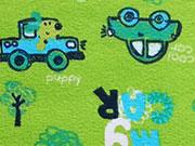 RESTSTÜCK 47 cm Jersey Brumm Brumm Autos - grün