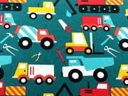 Jersey Baustellen Fahrzeuge, petrol