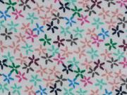 Jersey Streublümchen - weiss