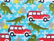 Jersey Dinos & Jeeps - türkis