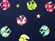 RESTSTÜCK 35 cm Jersey Elefanten & Sterne - bunt auf dunkelblau