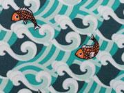 Jersey Fische & Wellen - mint
