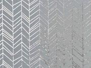 Jersey Pfeilspitzen Fischgrät, silbermetallic grau