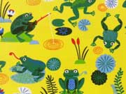 RESTSTÜCK 48 cm Jersey Froggy Frosch beim Angeln, gelb