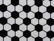 Jersey Fußballmuster - schwarz/weiß
