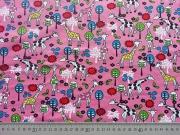 Jersey Giraffen-rosa/bunt