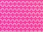 Jersey Kreuzblume pink auf rosa
