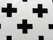 Jersey Kreuze - schwarz auf weiß