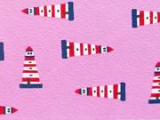 RESTSTÜCK 65 cm Jersey Leuchtturm - rosa