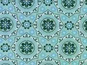 Jersey Ornamente, hellblau mint