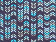 Jersey Pfeile - versch. Blautöne auf dunkelblau