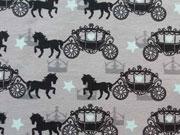 Jersey Pferd mit Kutsche & Sternen, grau
