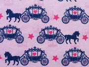 Jersey Pferd mit Kutsche & Sternen, rosa