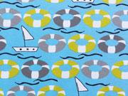 Jersey Rettungsringe & Boote - türkis/grüngelb