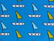 Jersey Badespaß Boote- türkis/grüngelb