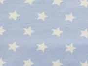 Jersey Sterne 1,4 cm - hellblau/weiss