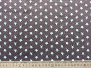 RESTSTÜCK 35 cm Jersey Sterne 1 cm - hellblau auf dunkelgrau