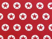 Jersey Stern im Kreis 1,7 cm -weiss/rot
