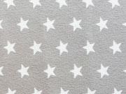 RESTSTÜCK 45 cm Jersey Sterne 1 cm, taupe-weiß