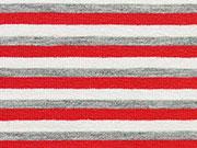 Jersey Streifen 4mm, grau/rot/weiß