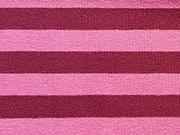 RESTSTÜCK 35 cm Jersey  Streifen 1 cm, Beere-Rosa