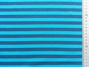 Streifenjersey 1 cm- türkis/dunkelblau