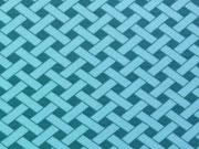Jersey Weave, petrol/mint