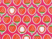 RESTSTÜCK 38 cm Hamburger Liebe Jersey Yummy Strawberry, pink