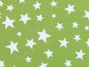 Jersey verschiedene Sterne weiss auf hellgrün