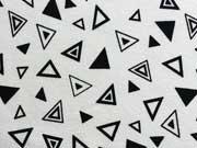 Jersey graphische Dreiecke, schwarz auf weiss