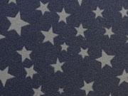 Jersey verschiedene Sterne dunkelgrau auf navy