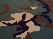 RESTSTÜCK 37 cm Jersey Army Print Camouflage - grün