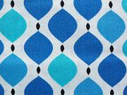 Kabloom  Blue Geo-blau/weiß