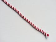 gestreiftes Kordelband, rot weiß