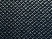 RESTSTÜCK 20 cm geprägtes Kunstleder mit  Rautenmuster-dunkelblau