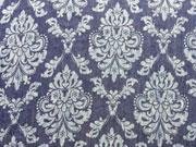RESTSTÜCK 35 cm Leichter Jeans Ornamente dunkelbl