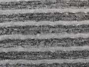 Leichter Strick Streifen-dunkelgrau/hellgrau