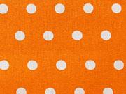 RESTSTÜCK 96 cm beschichtete BW weisse Punkte 6mm auf orange