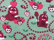 Lillestoff Biojersey Oskars Apfelernte, grün